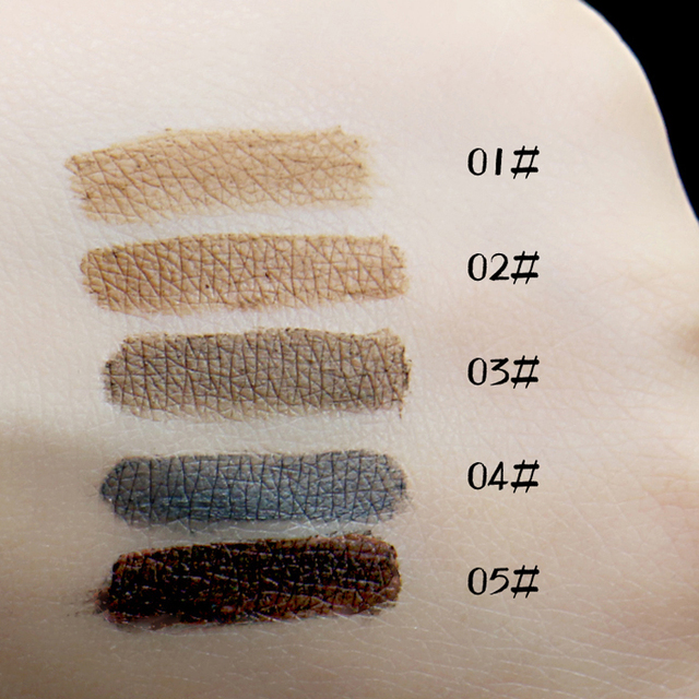 Fashion Professional Eye Brow Dye Cream Pencil Long Lasting Waterproof Brown Eyes Tint Paint Henna Eyebrow Set Makeup Kit 5