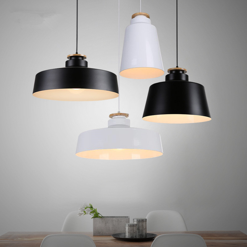 Modern Nordic White Black Iron pendant light lamp D20/30 ...