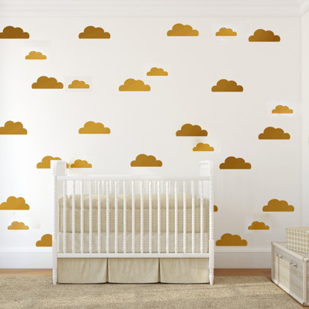 Online get cheap children39s removable wall decals aliexpress a026 removable clouds wall stickers for childrens room vinyl wall decal for nursery home decor amipublicfo Gallery