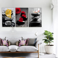 Leaves Over The Stones Decoracion Zen Canvas Printings Wall Pictures For Living Room Wall Art Paintings