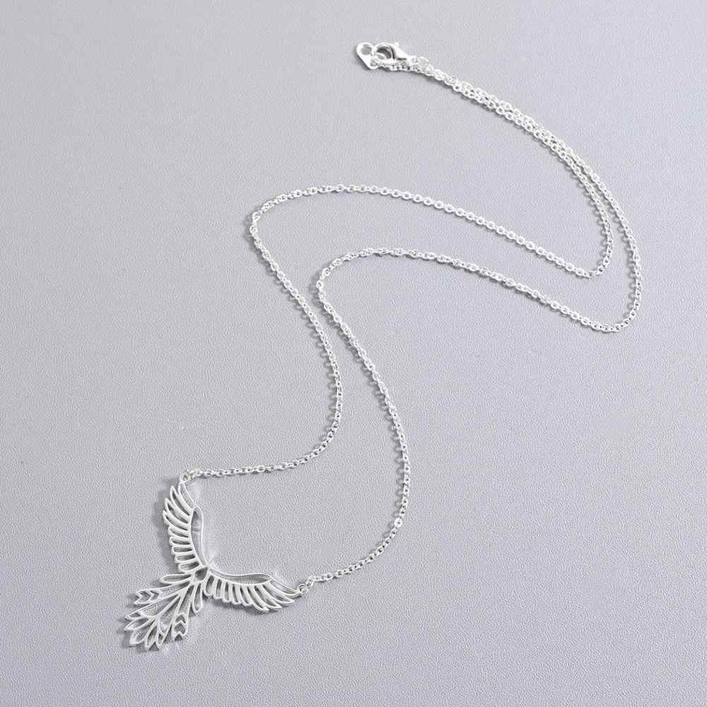 Chandler Stainless Steel Phoenix Necklace Origami Bird Pendant Lucky Gift Chain Chokers Bijoux Homme Femme Bijoux Wholesale