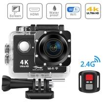 """H9R Экшн-камера Ultra HD 4 K/25fps WiFi 2,"""" 170D подводная камера Go Водонепроницаемая профессиональная спортивная камера на шлем для верховой езды, альпинизма"""
