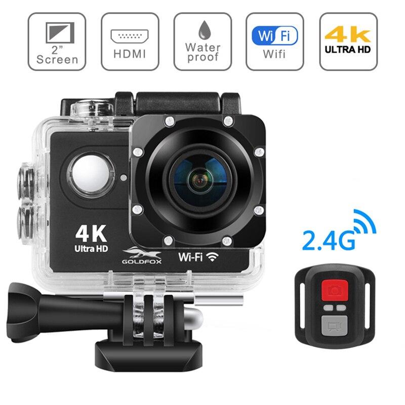 4 K écran tactile Action caméra WIFI double écran 12MP 30 m aller étanche pro DV 170 degrés grand Angle lentille sous-marine Sport caméra