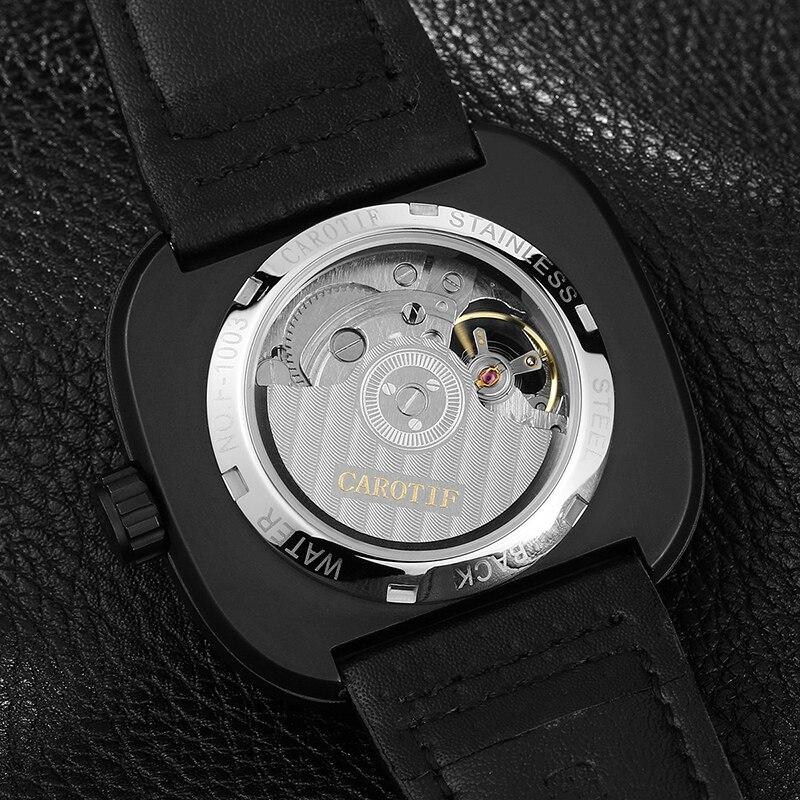 Carotif casual δερμάτινα μηχανικά ρολόγια - Ανδρικά ρολόγια - Φωτογραφία 2