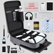 Mens Casual Usb Opladen Werk Rugzak Grote Ruimte Korte Trip Mannelijke Waterdichte Reisbagage Zakken 15.6 Inch Laptop Back Pack