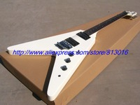 New Free Shipping Electric Guitar V Shape Musical Instrument Dots Inaly Die Caster Tuner Floyd Rose