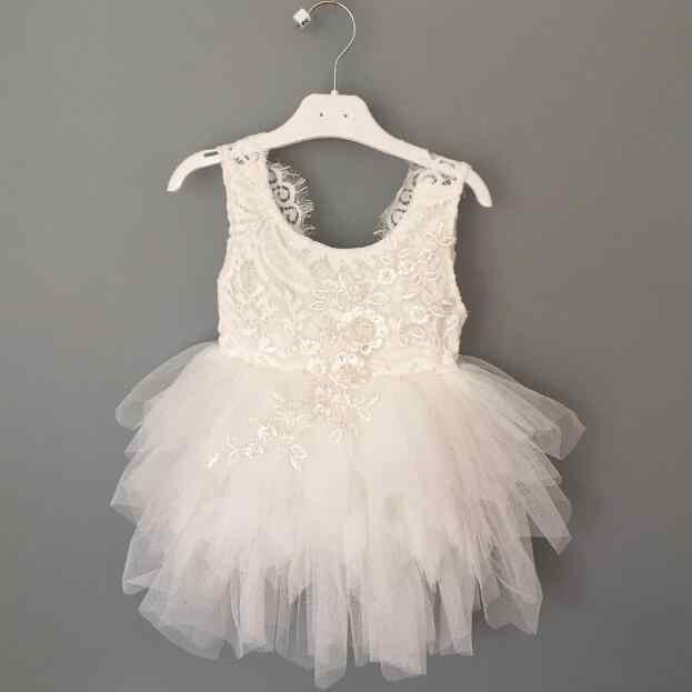 b3e637dc0 ... Kids Tutu Dress For girls Lace Embroidery Dress Fancy 1st Baby Birthday  Party Costume Vestido Infantil ...