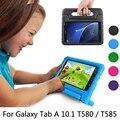"""Niños a prueba de golpes funda de silicona para samsung galaxy tab 10.1 t580 t585 10.1 """"Bolso de la tableta Perfecta Protección Segura + Regalo"""