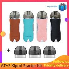 цены на Newest ATVS Xipod Starter Kit 650mah 650mAh battery 2ml capacity 1.0ohm ceramic coil vs justfog c601 kit  в интернет-магазинах