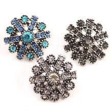 K de Gadgets Hot al por mayor Bracelet & Bangles colores Rhinestone Snap botón pulsera para las mujeres 20mm botón