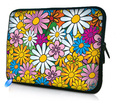 "12"" Colorful Flower Laptop Soft Neoprene Sleeve Bag Case For Samsung Google 11.6"" Chromebook,11.6"" Acer Aspire One,Macbook Air"