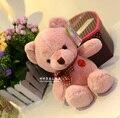 Stuffed animal 25 cm pink teddy bear plush toy soft doll gift w1755