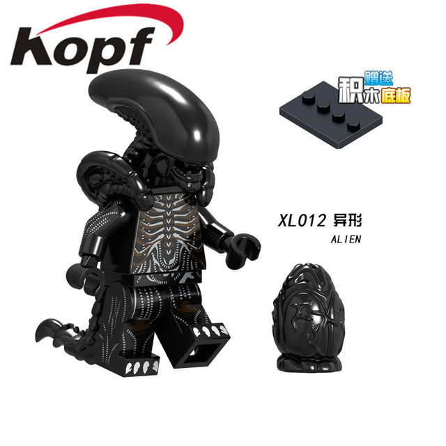 US $0 71 5% OFF|Single Sale Building Blocks Super Heroes Alien Movie  Xenomorph Giant Monster Bricks Figures For Children Collection Toys  XL012-in