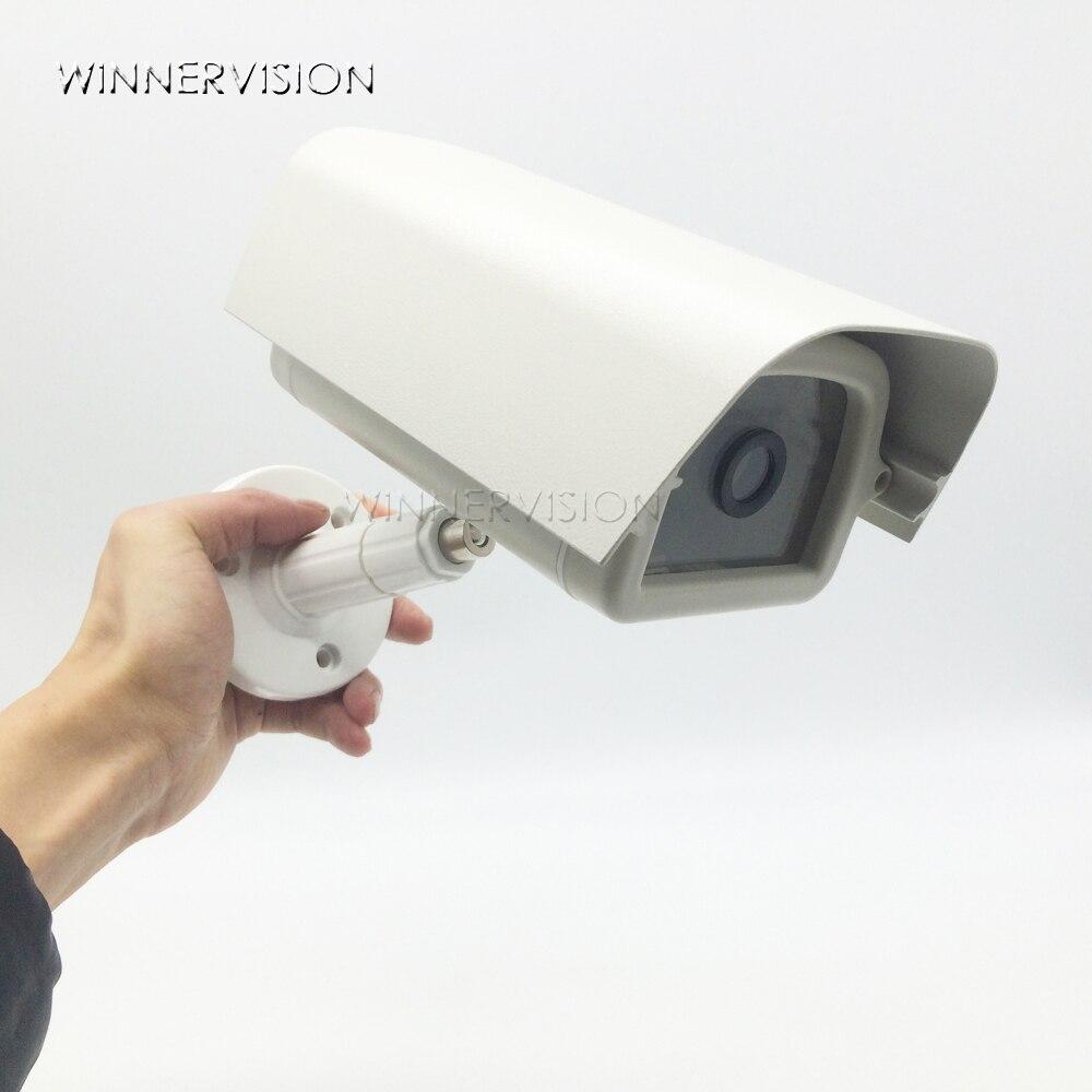 bilder für Indoor outdoor aluminium haus cctv kamera gehäuse schützen fall mit abs brakit kunststoffhalterung für video überwachungskameras