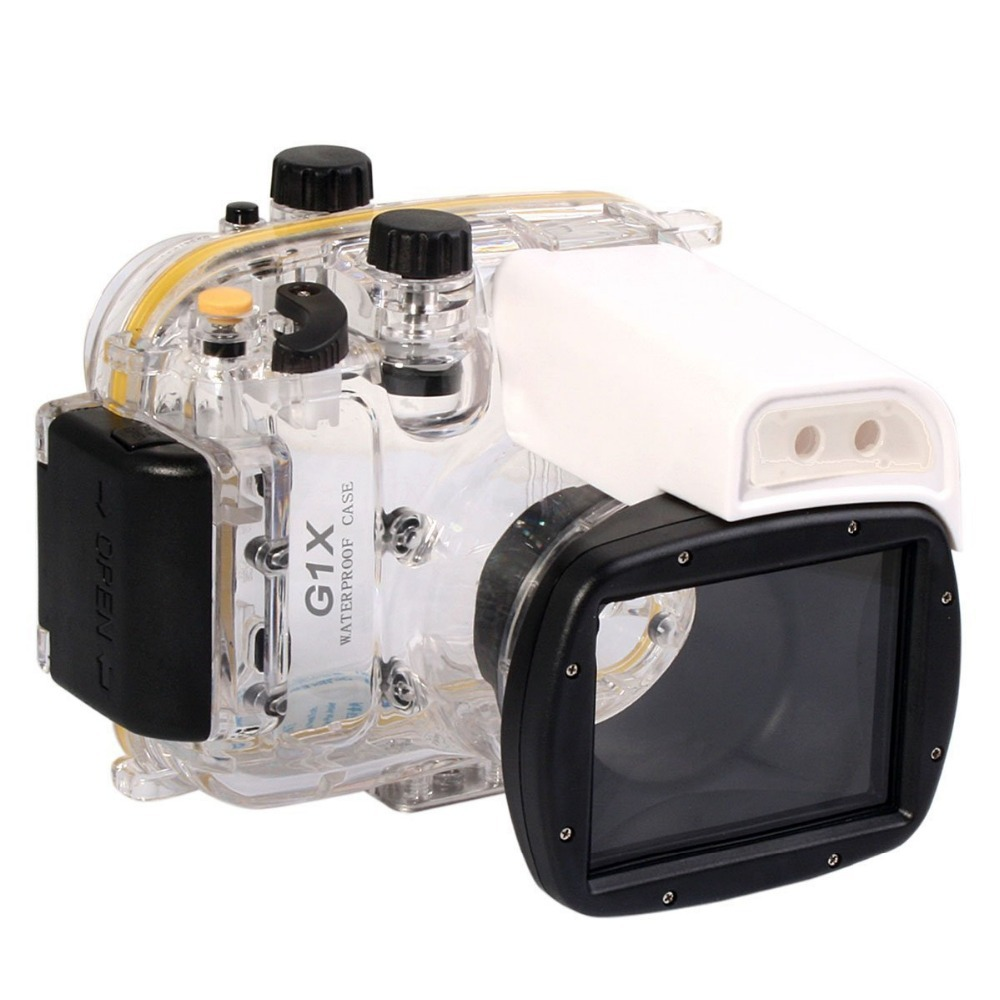 Mcoplus 40m 130ft Diving Camera Underwater Waterproof Housing <font><b>Case</b></font> for <font><b>Canon</b></font> Powershot G1 X <font><b>G1X</b></font> image