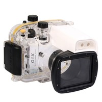 Mcoplus 40m 130ft Diving Camera Underwater Waterproof Housing Case for Canon Powershot G1 X G1X