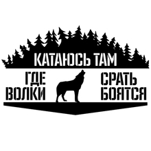 CS-1209#23*14cm I ride where the wolves funny car sticker vinyl decal silver/black for auto car stickers styling все цены