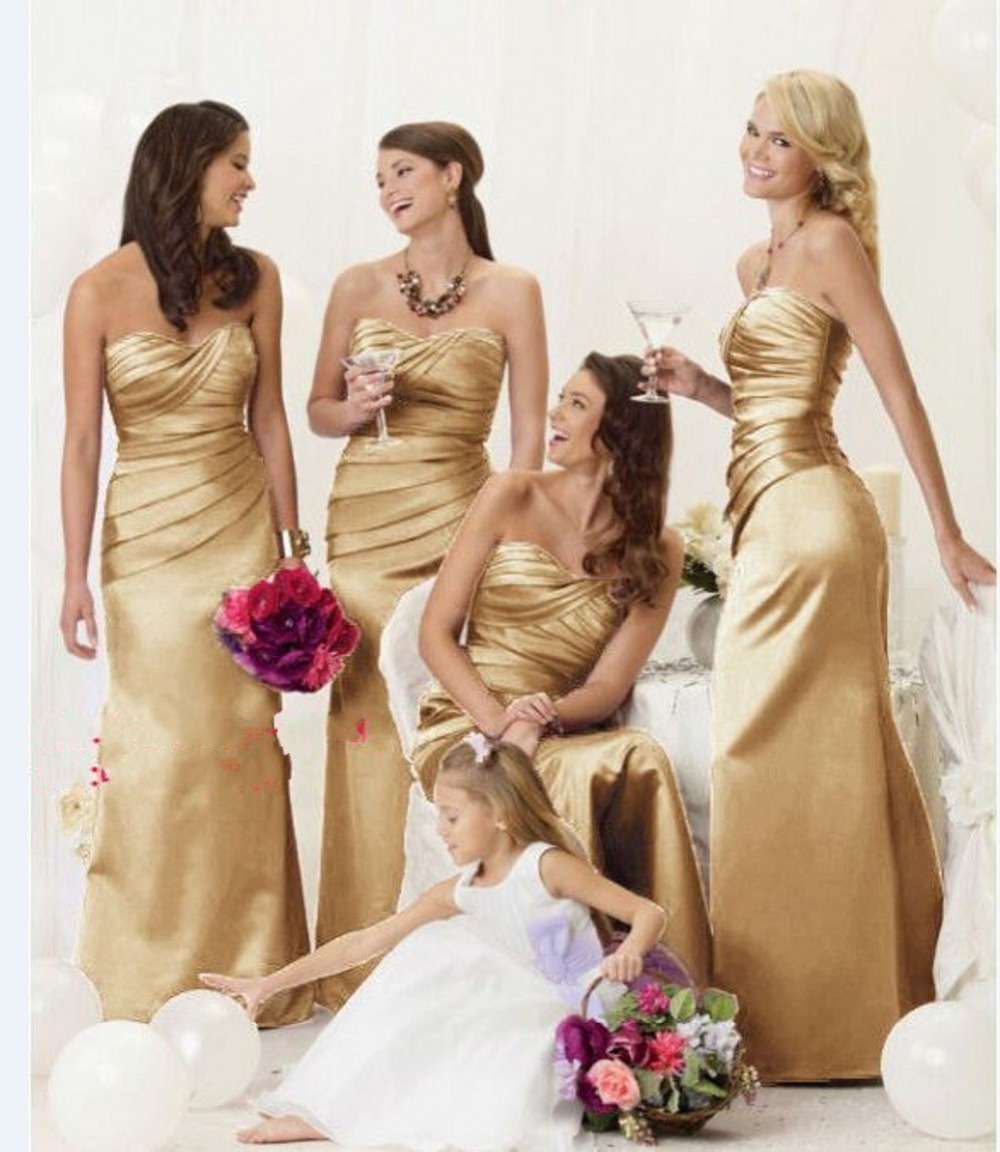 In stock cheap sweetheart neckline ruched lace up vestido de festa in stock cheap sweetheart neckline ruched lace up vestido de festa long plus size gold bridesmaid dresses 2015 in bridesmaid dresses from weddings events ombrellifo Images