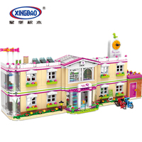New XINGBAO 12001 City Girl Friends School House the Happy Teaching Building Set Legoings Blocks Kits Brick Toys for Children