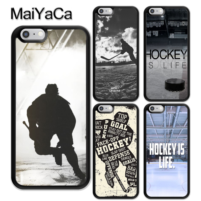 MaiYaCa Ice Hockey is Life Pattern Soft Rubber Phone Cases