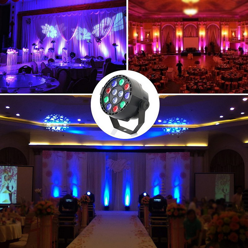 1 PC Professional LED Stage Lights  15W DMX-512 RGB LED Stage PAR12 Light Lighting Strobe Party Disco DJ  KTV  Show