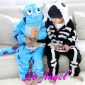 Children Kids Cartoon Animal Onesie Pijamas Sulley/Skeleton Pajamas Cosplay Party Costume Girls Boys Sleepwear Pyjamas Sets