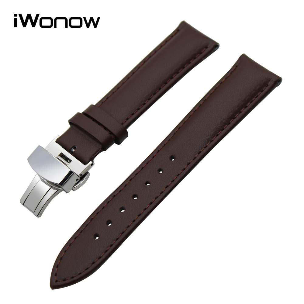 22mm Genuine Leather Watchband for Asus ZenWatch 1 2 Men LG G Watch W100 Urbane W150