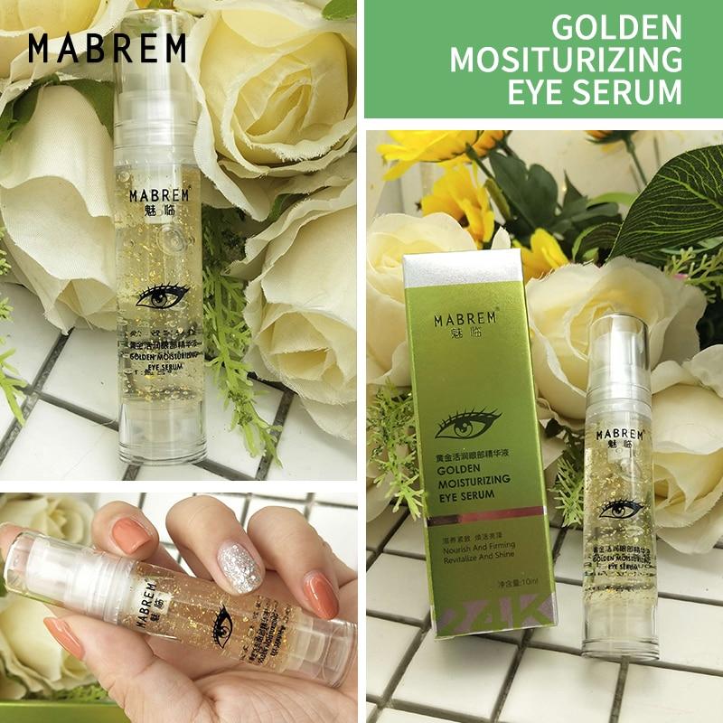 1PCS 10ml 24k Golden Moisturizing Eye Serum Collagen Anti Aging Face Serum Anti Puffiness Dark Circle Repair Tighten skin Aroun
