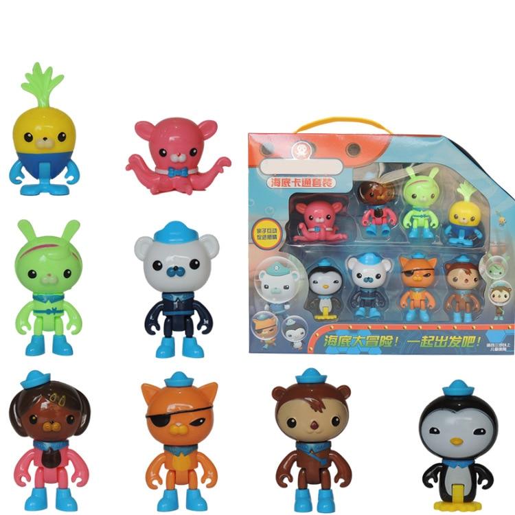 8pcs Octonauts Figures Toys Peso Captain Barnacles Kwazii Shellington Dashi Tweak Inkling Kids Best Gift