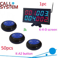 Beach call pager system wireless remoter calling service (1 display receiver with 50 table buzzer)