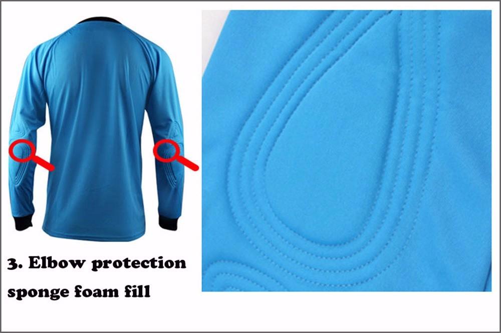 Mens Football Goalkeeper Jersey maillot de foot 2016 2017 Goalie Sponge Protector Suit Camisetas De Futbol Goal Keeper Uniforms 7