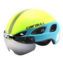 Professional Road Mountain Bicycle Helmet Casco Ciclismo Glasses Cycling Helmet Integrally-molded Magnetic Goggles Bike Helmet