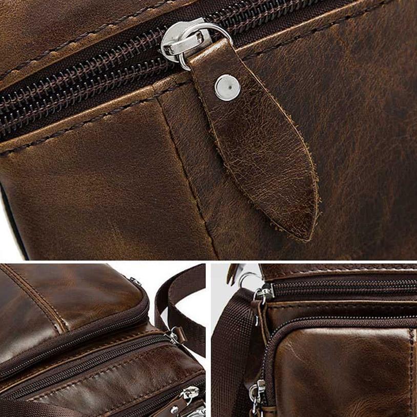 Image 3 - Genuine Leather shoulder bags men Crossbody Bag Designer Natural cowhide Shoulder Bags Vintage Small Flap Pocket Handbag-in Crossbody Bags from Luggage & Bags