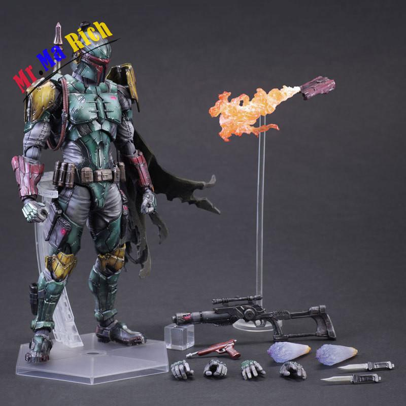 Movie Figure 27 Cm Playarts Kai Star Wars Boba Fett Pvc Action Figure Collectible Model Toy Brinquedos huong movie figure 26 cm playarts kai star wars darth maul pvc action figure collectible model toy