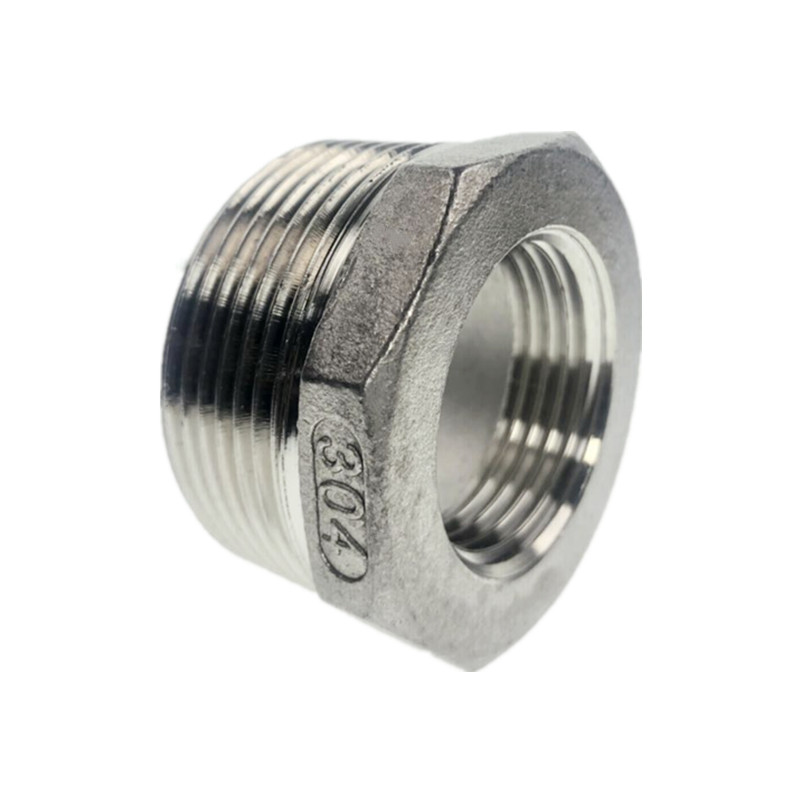 304 Stainless Steel Reducer BSP Male To BSP Female Reducing Bush