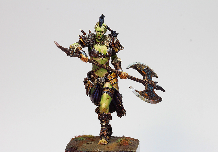 Loong Way Miniatures] Black Sun Miniatures SHE ORC 75mm