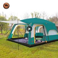 Camel 6 8 10 12 Person Outdoor 2 Bedroom Family Water Proof Party Hiking Mountaineering Beach Self Driving Outdoor Camping Tent