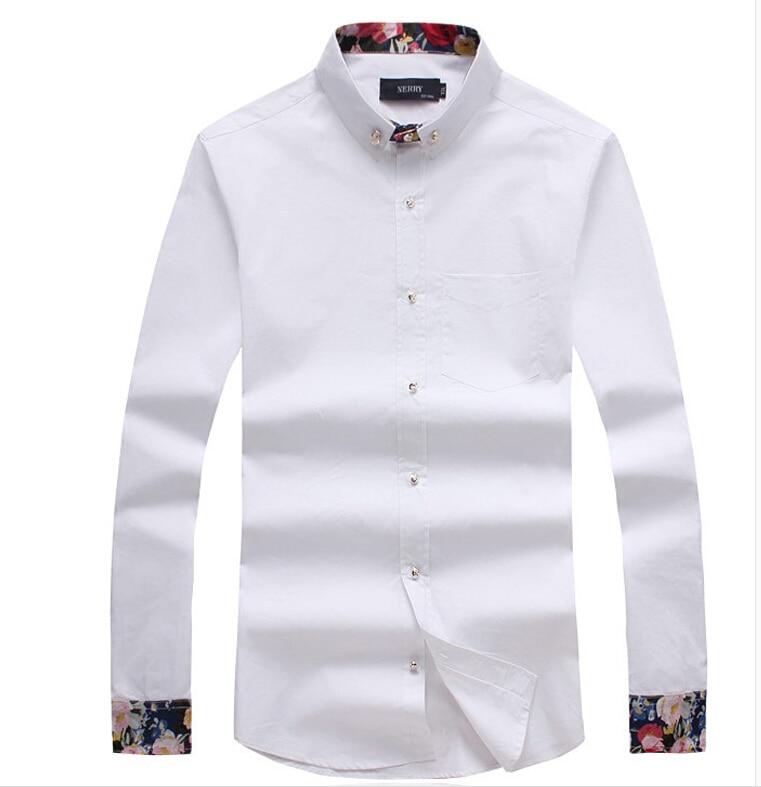 ffd414551d565 Camisa de hombre 2016 hombres de moda Camisa de manga larga del brazo para  hombre de la marca Stripes Camisa Masculina ocasional Camisa delgada  Chemise ...