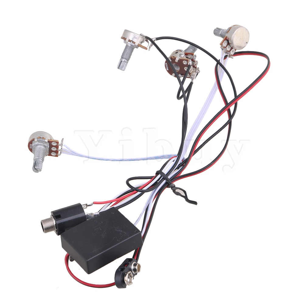 Yibuy 2 Band EQ Preamp Circuit for Active Bass Pickup/ Amplifying circuit