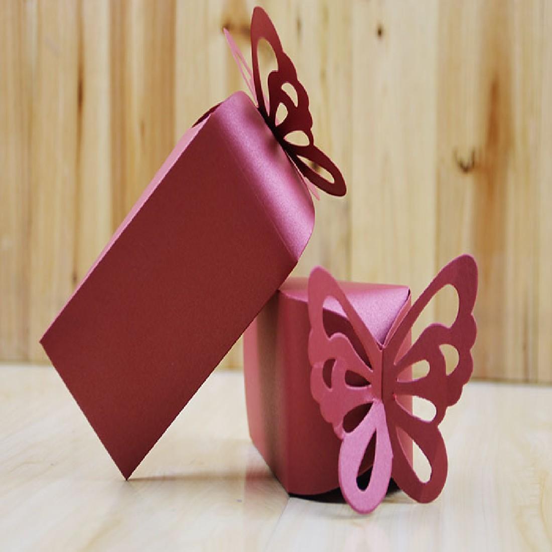 nueva venta unids tringulo butterfly tea party caramelo de chocolate caja de regalo de cumpleaos de la boda de papel a favo