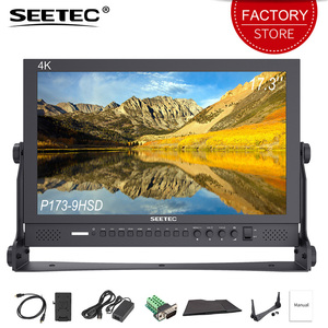 SEETEC P173-9HSD 17,3 pulgadas Pro Monitor Broadcast HD 4 K 1920x1080 diseño de aluminio de escritorio LCD Monitor con 3G SDI HDMI YPbPr AV