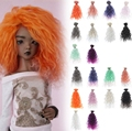 1pc High Quality Handmade Doll Wig BJD Doll Hair DIY High-temperature Wire Handmade Natural Curly Wigs Big Hair Curls