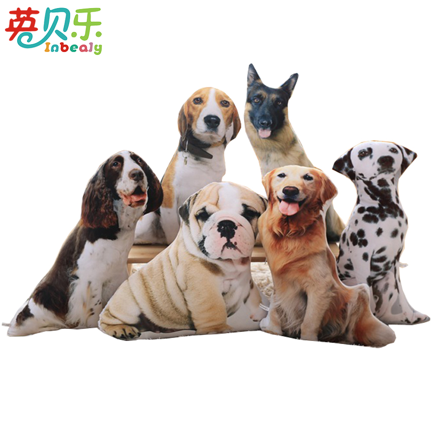 50cm Real Life Plush Dog Cat Peluche Pillow Kawaii Stuffed Animal Toy Dalmatians Golden Retriever Soft Toys for Children Adults
