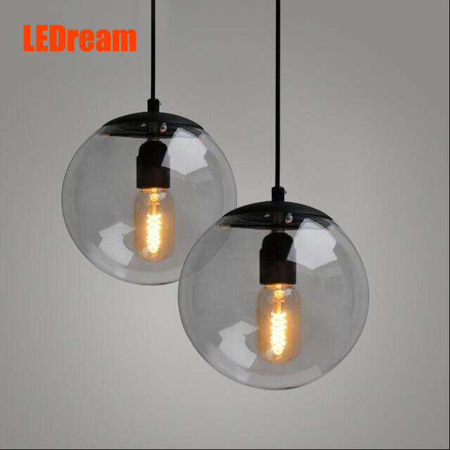 ФОТО Creative contemporary  single-head restaurant bar bedroom of children clothing store droplight of glass ball and spherical shape