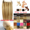 #12/613 200g 180g 160g 140g Thick Hair Extension Brazilian remy human hair extensions Flip In Human Hair Extension