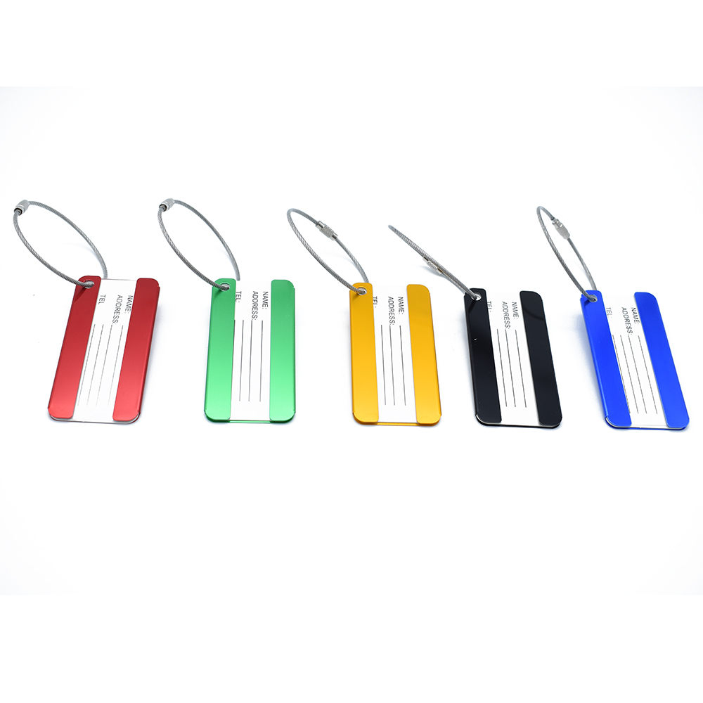 ISKYBOB 1 PC Aluminium Luggage Tags Suitcase Label Name Address ID Bag Baggage Tag Travel wulekue rectangle aluminium alloy luggage tags travel accessories baggage name tags suitcase address label holder