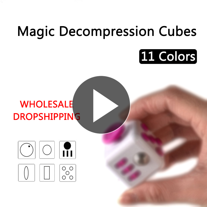 Antistress Cube Magic Desktop IoT Toys Juguetes Hand Cubo Stress Reliever Autism Finger Tips Kids Depression Fidiget Accessories