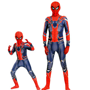 Image 1 - Man Latex Spider Costume for Kids Halloween Superhero Party Cosplay Carnival Spider Boys Fancy Dress