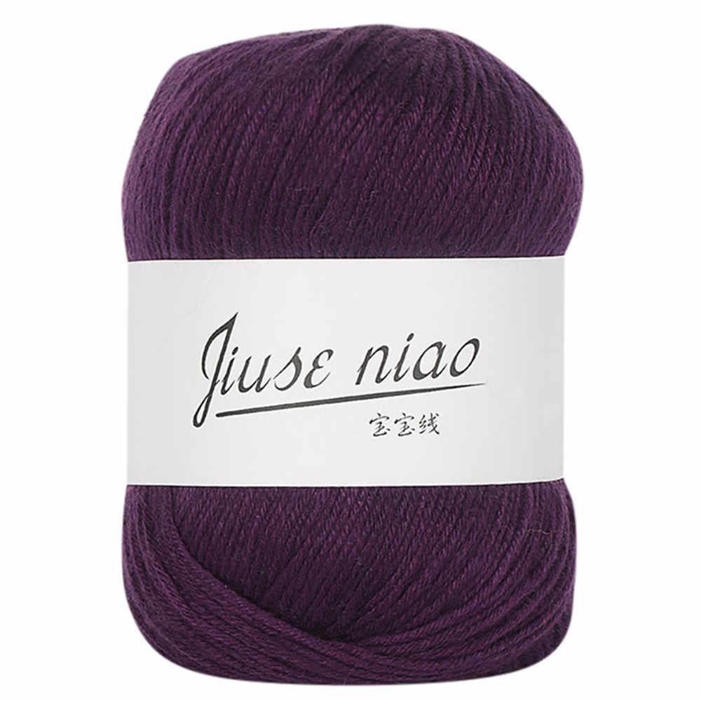1 cái 50 gam Chunky Tay Đầy Màu Sắc Đan Bé Sữa Bông Crochet Dệt Kim Nhà Len Đầy Màu Sắc TỰ LÀM Crochet Vải Thảm sợi 1030