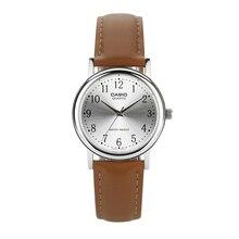 Casio Watch Simple Vintage Pointer Brown Belt Men's